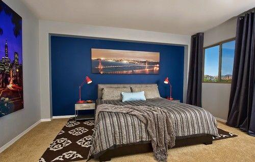 Dieses Schlafzimmer Riecht Nach Maskulinen Flair Aus Der Wahl Der  Metallischen Braun Bett Möbel Und Einen