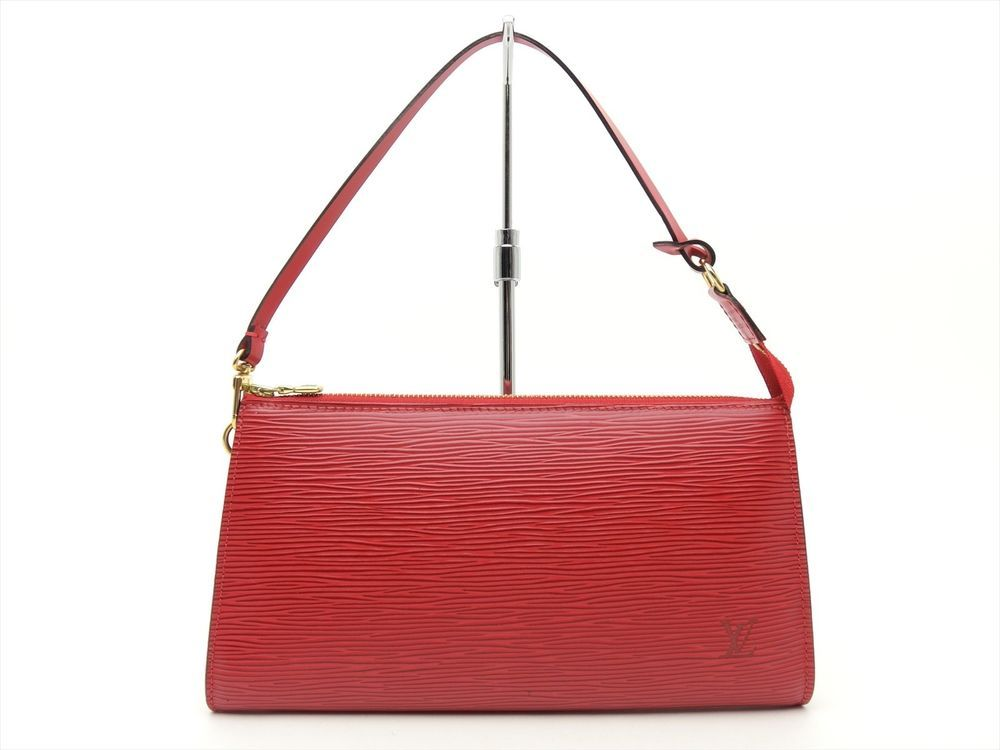 8a5869e5d339 Louis Vuitton Authentic Epi Leather Red POCHETTE Accessoires POUCH Clutch  Bag  LouisVuitton  CosmeticBags
