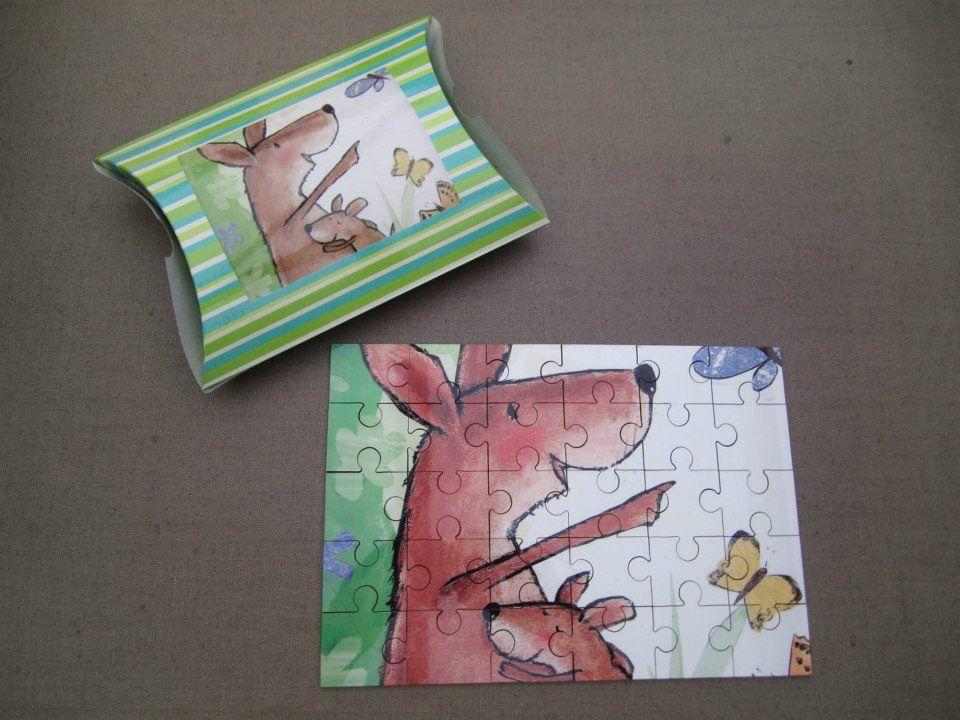 Puzzel verteltas kleine kangoeroe