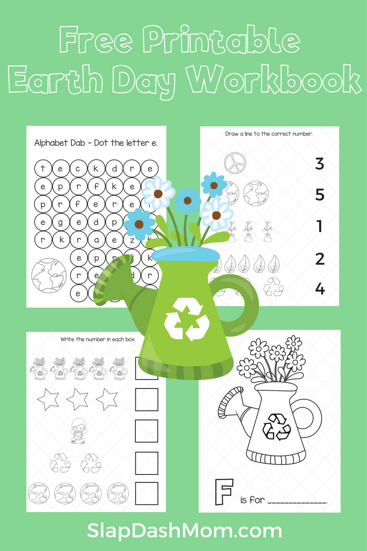 Free Printable Earth Day Workbook Pre-K | Pinterest | Earth, Free ...