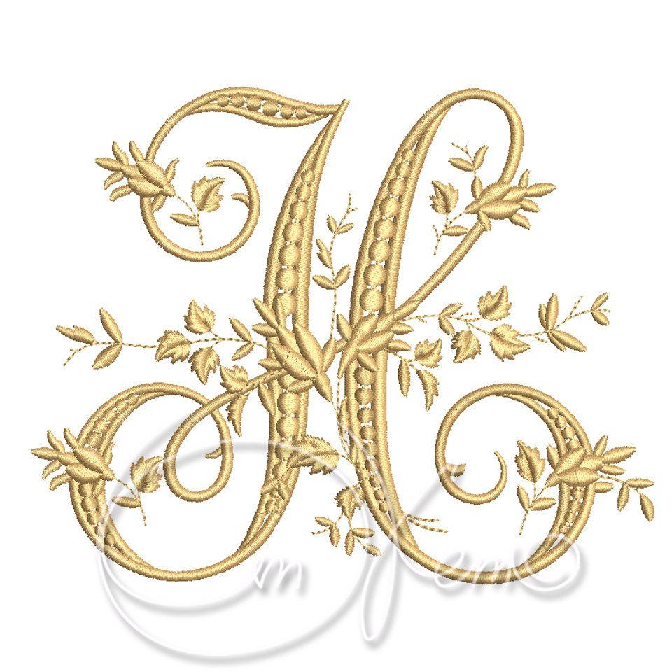 Machine Embroidery Design Victorian Letter H Digitized Etsy Machine Embroidery Designs Machine Embroidery Embroidery Designs