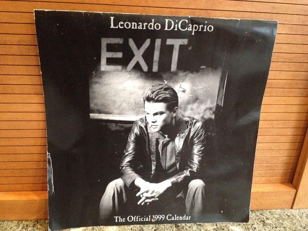 Collectible Leonardo Dicaprio Official 1999 Wall Calendar Photos