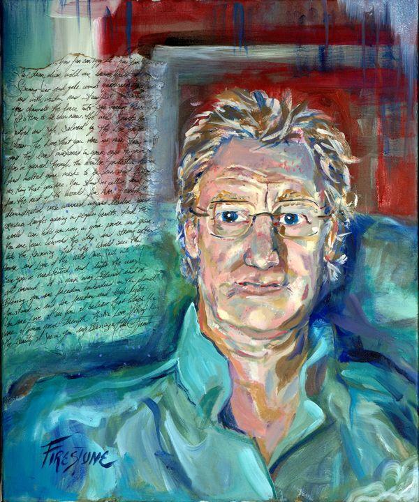 Wild Bill Jones Spirit Capture Oil Portrait www.RobbiFirestone.com