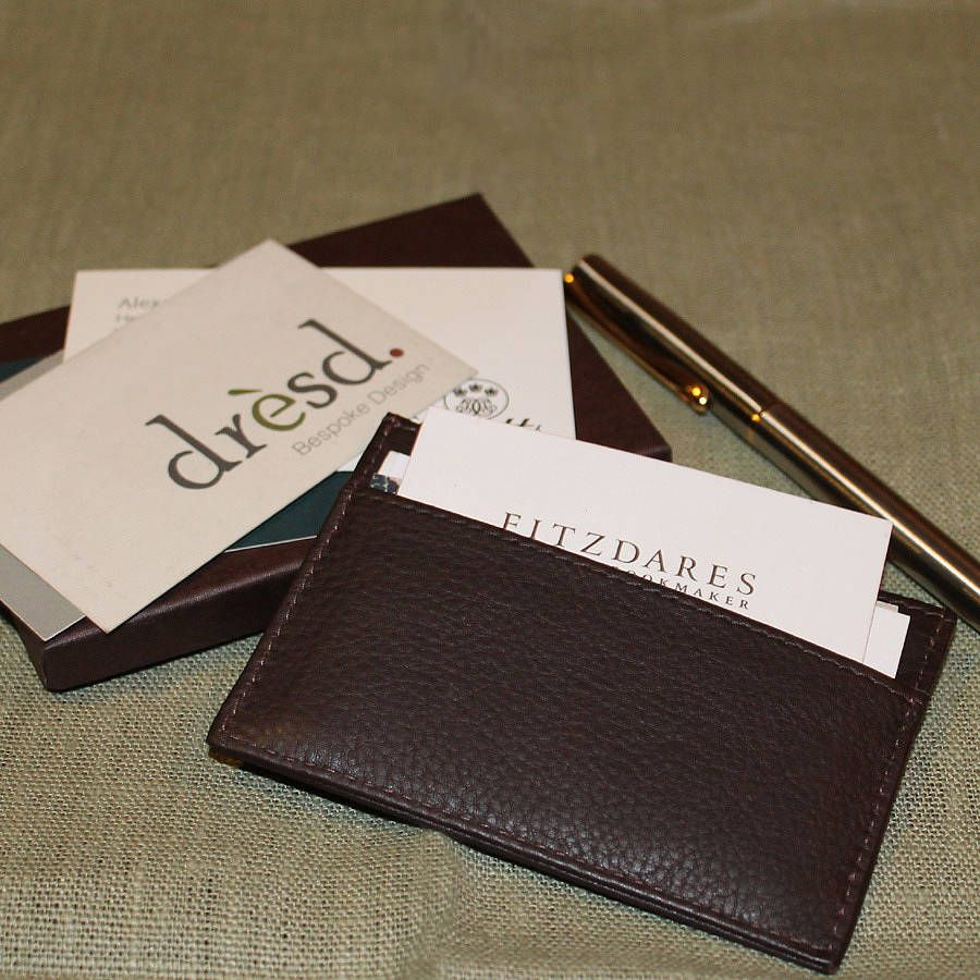 Personalised Leather Card Holder | Business card holders