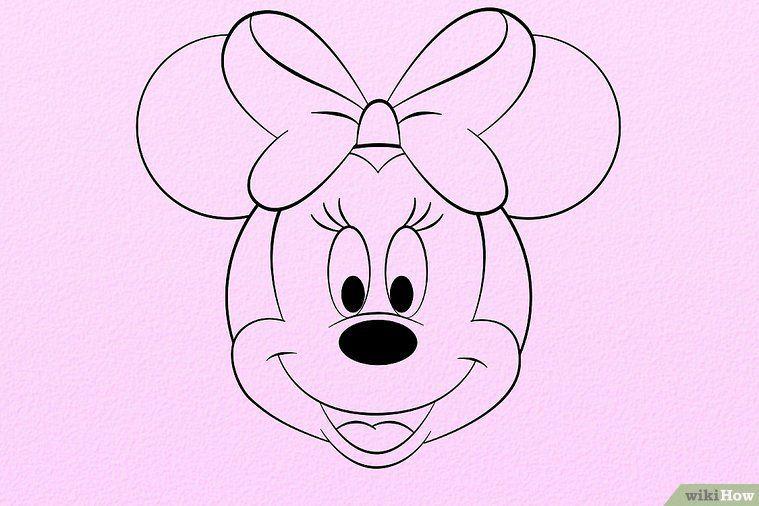 Minnie Maus Zeichnen Wikihow Backen Minnie Maus Zeichnen Und
