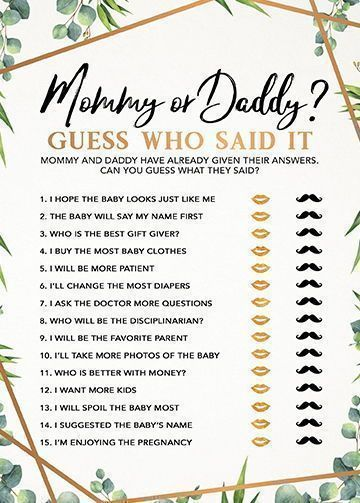Printable Baby Shower Games