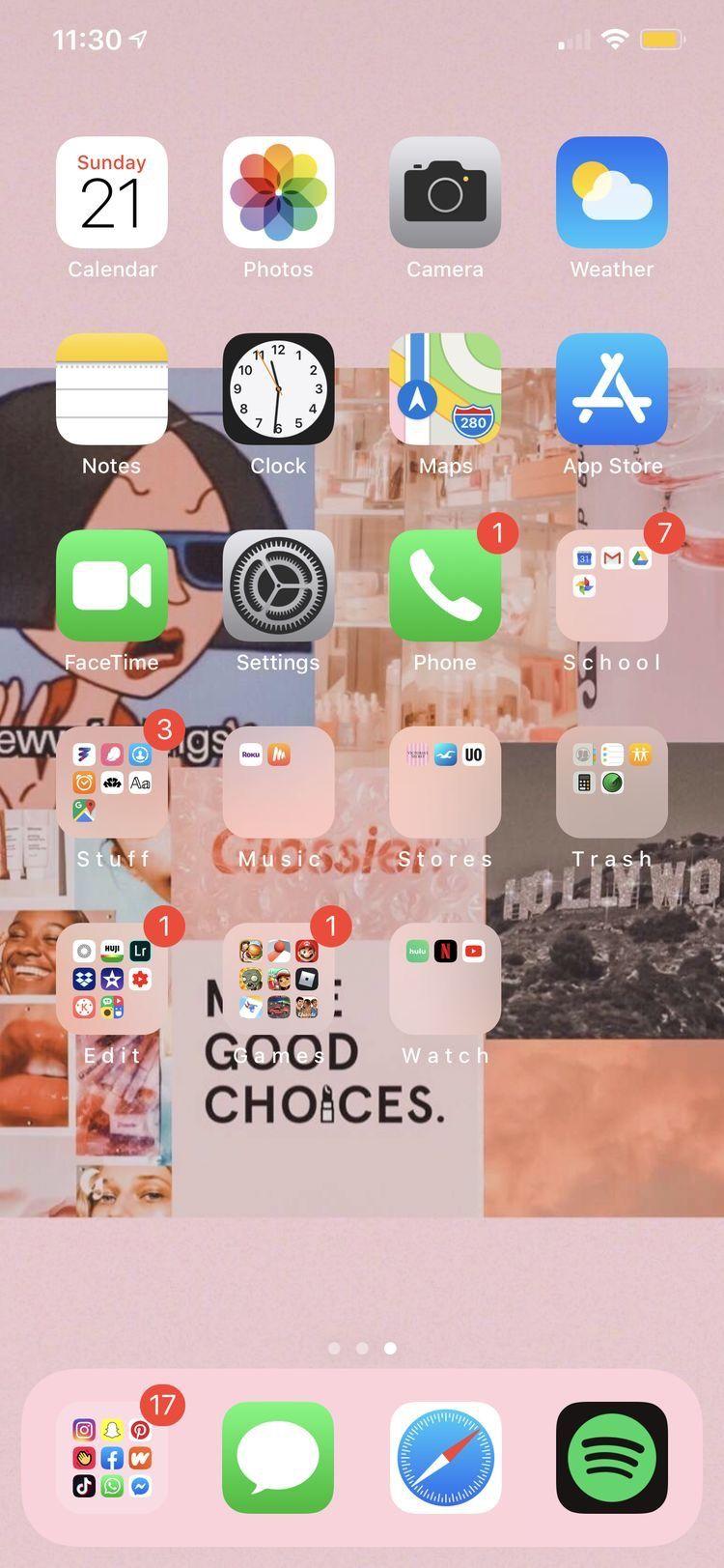 Iphone Organization Image By Illa Sena On Phone Homescreen