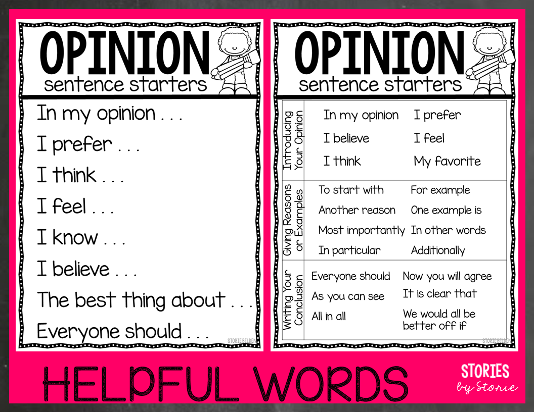 Opinion Writing For Second Grade