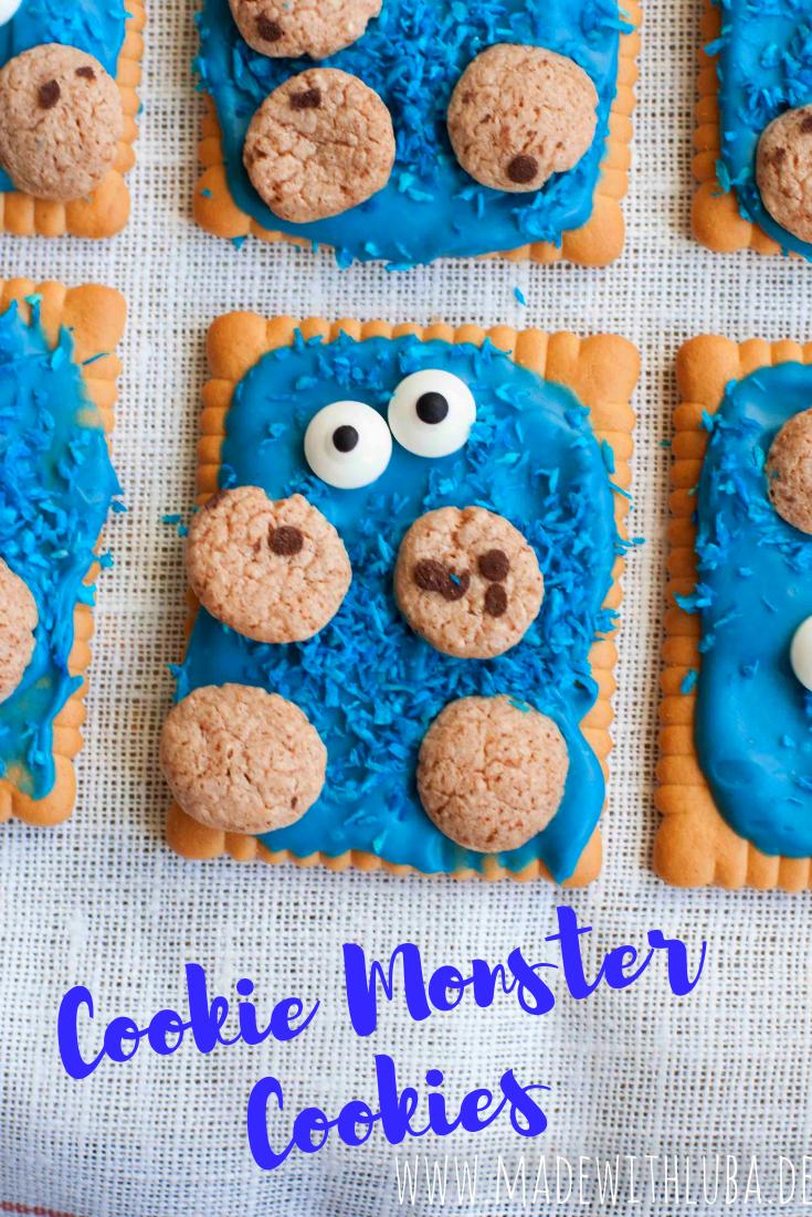 Krümelmonster Kekse - Ein lustiger Snack für den Kindergeburtstag.