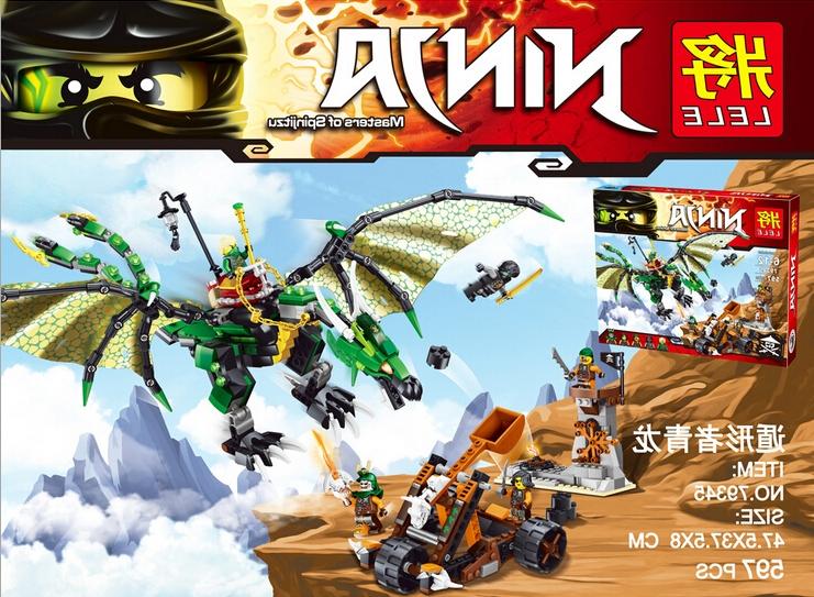 27.99$ (Watch more - https://alitems.com/g/1e8d114494b01f4c715516525dc3e8/?i=5&ulp=https%3A%2F%2Fwww.aliexpress.com%2Fitem%2FLELE-79345-Ninjagoed-70593-The-Green-NRG-Dragon-Toys-Action-Figures-Minifigures-Building-Block-Toys%2F32718313084.html) LELE 79345 ninjaed 70593 The Green NRG Dragon Toys Action Figures figures Building Block Toys