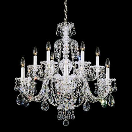 Schonbek sterling 29w swarovski crystal 12 light chandelier schonbek sterling 12 light swarovski crystal chandelier 487300 12 60 watt mozeypictures Images