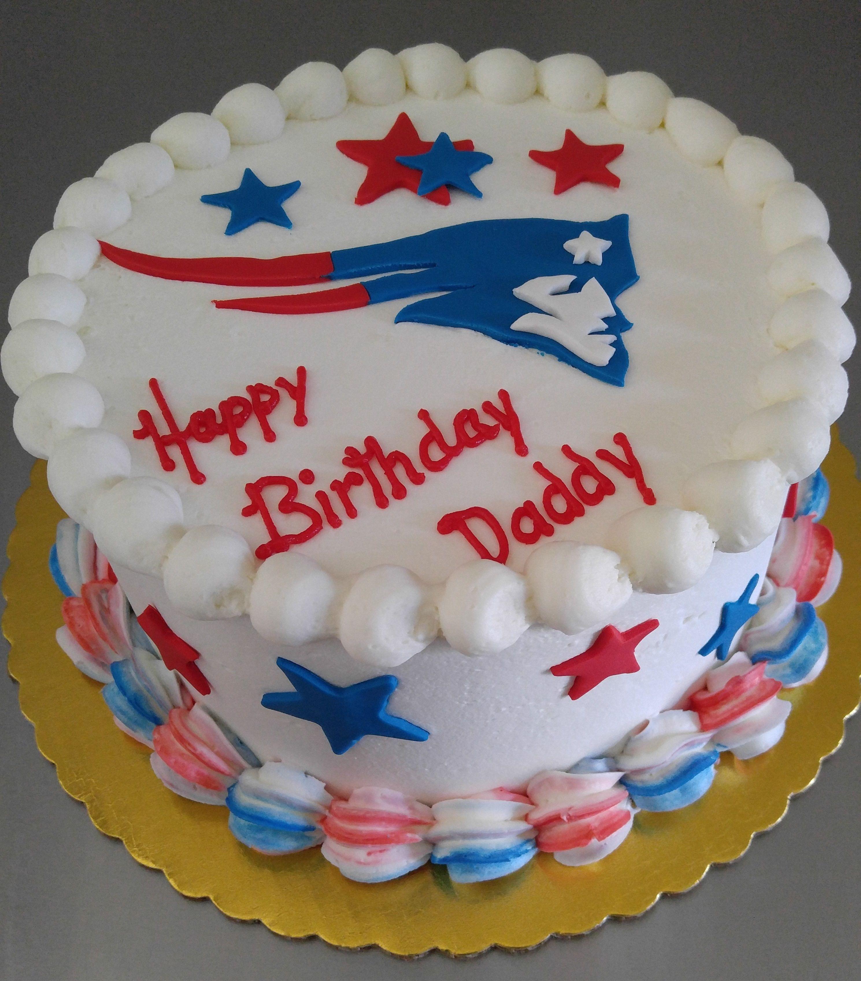 New England Patriots Birthday Cake, VintageBakery.com 803