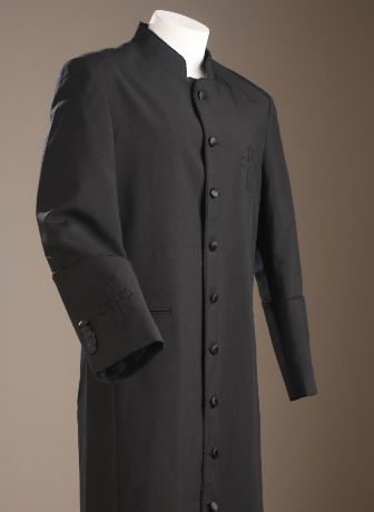325433ce53 Clergy Robe In Black On Black For Men