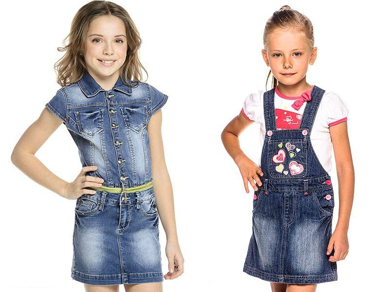 Джинсовое платье для девочки - красивая и универсальная вещь