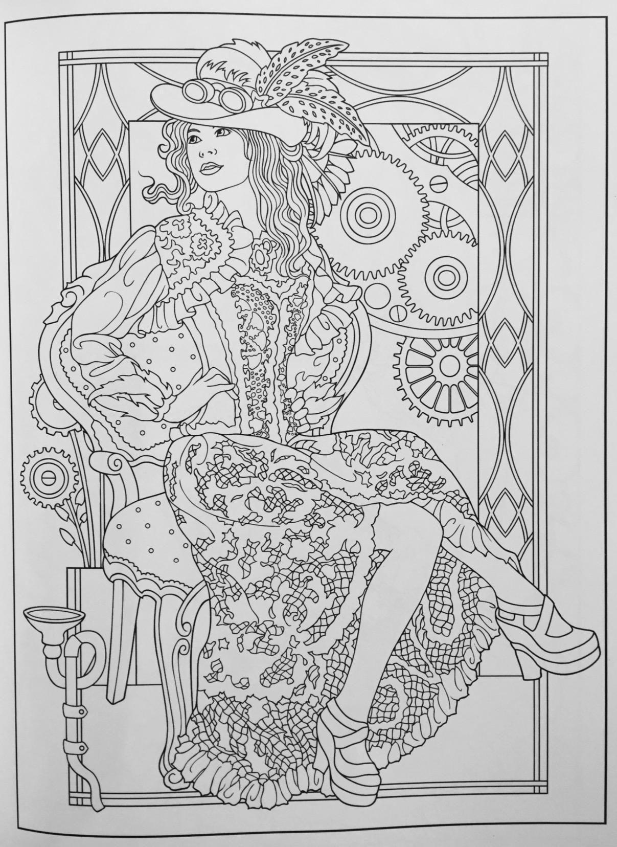 Creative haven steampunk fashions coloring book creative haven