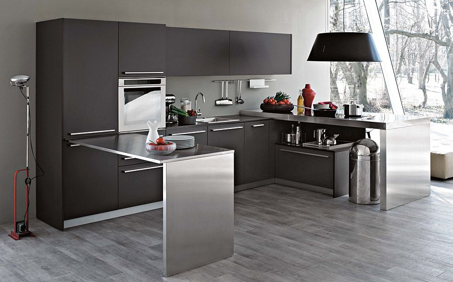 modern italian kitchens with modular cabinets, colorful