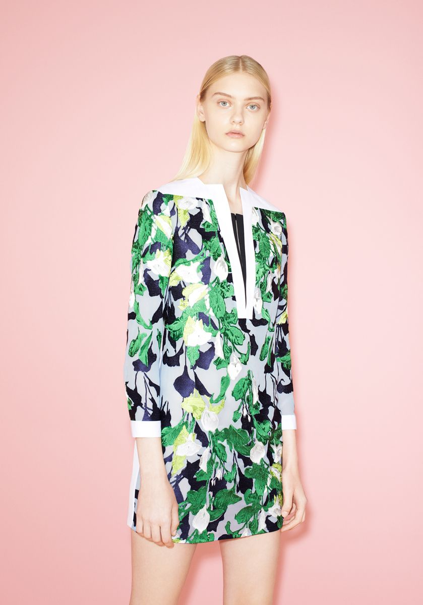 Floral print short short #dress #trends I Peter Pilotto Resort 2014 #fashion #resort2014