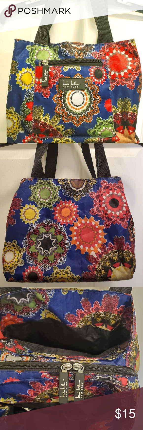 Nicole Miller Charming Blue Insulated Lunch Tote Nicole
