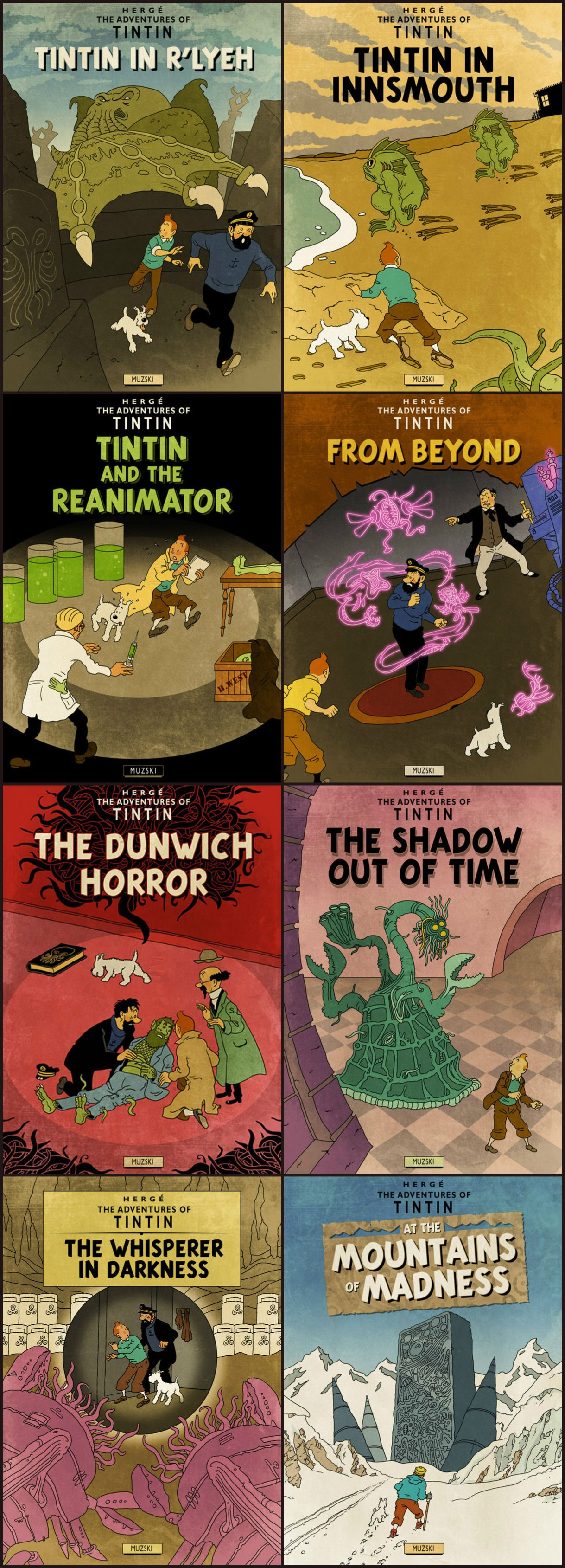 Tintin & Lovecraft   Lovecraft art, Lovecraftian horror, Lovecraft cthulhu