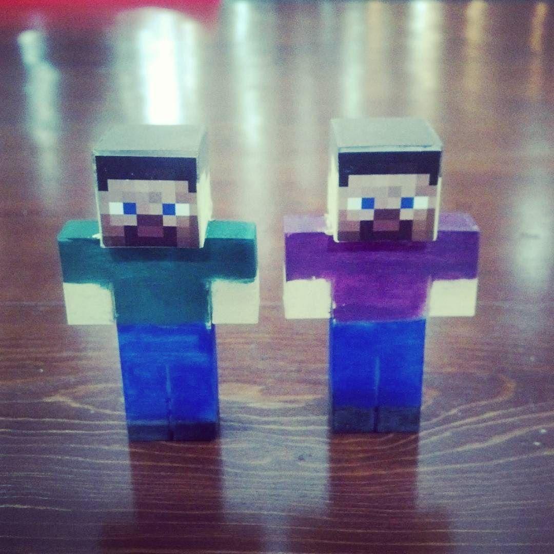 Otro taller finalizado con éxito :) #3DPrinting  #Minecraft by laguna3d