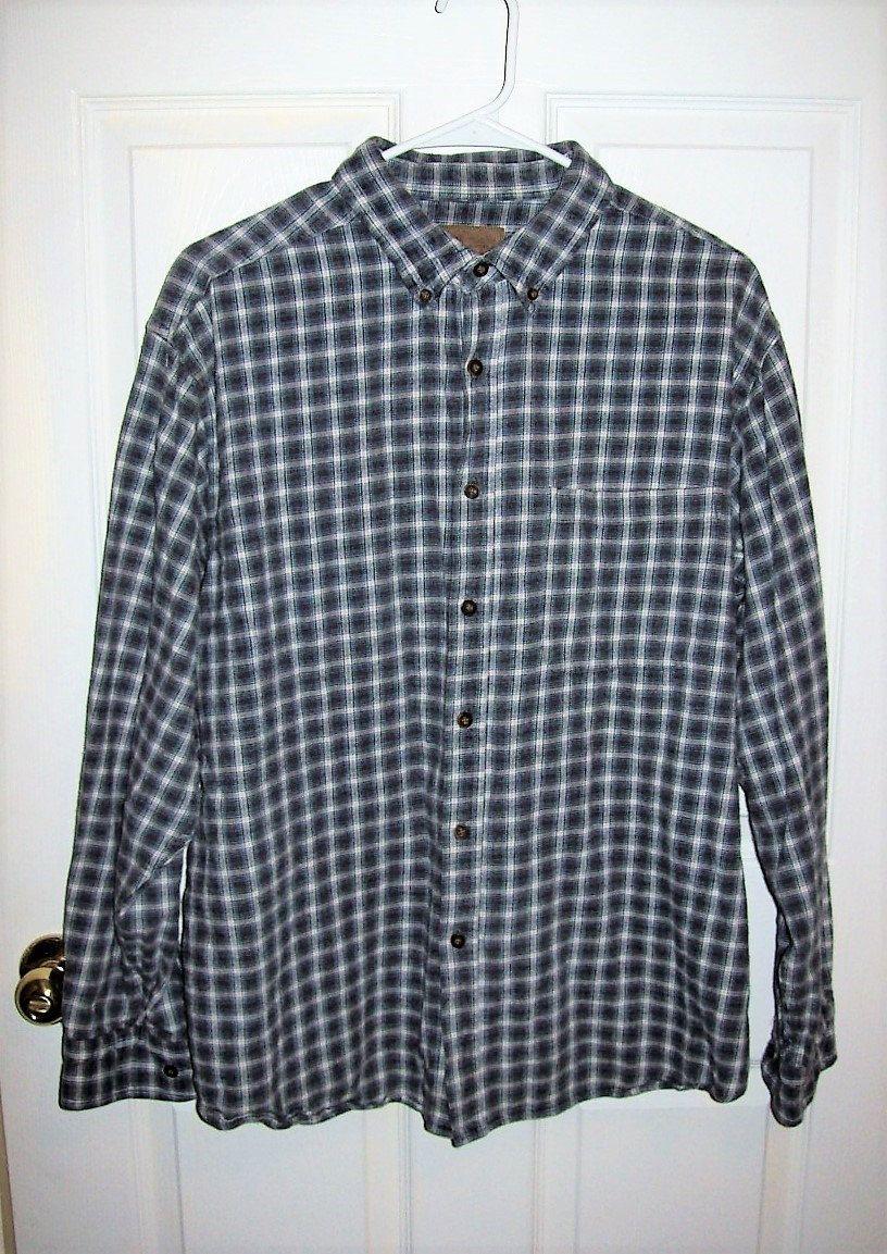 Flannel shirt vintage  Vintage Menus Gray Plaid Flannel Shirt by Faded Glory XL Just  USD