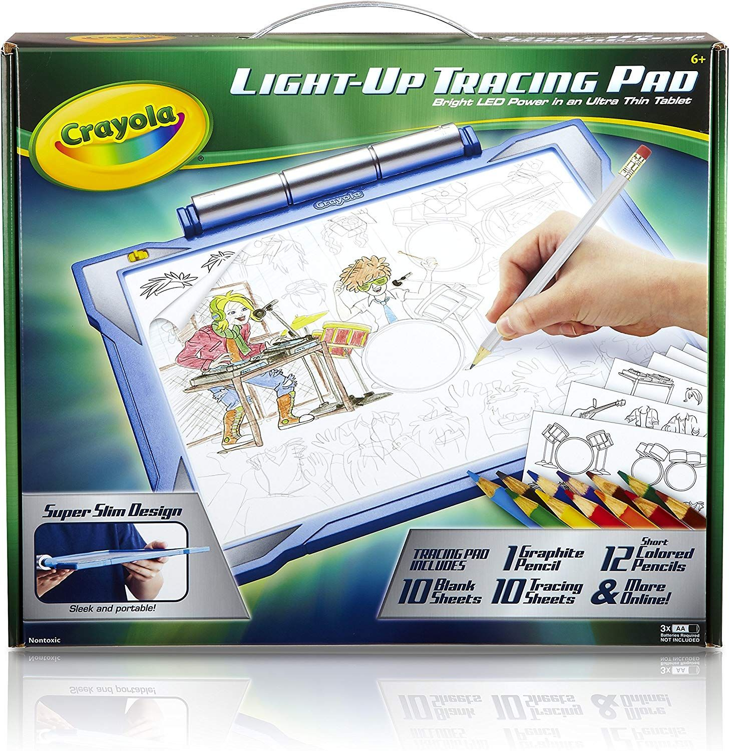 Toys for Boys Coloring Board for Kids Crayola Light-up Tracing Pad Blue Gift
