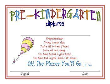 pre k graduation ideas cat in the hat kindergarten diplomas u2013