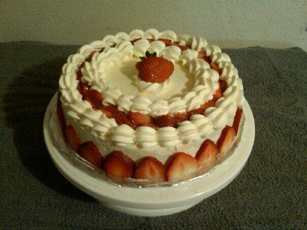 Strawberry Whipped Cream Cake Recipe — Dishmaps