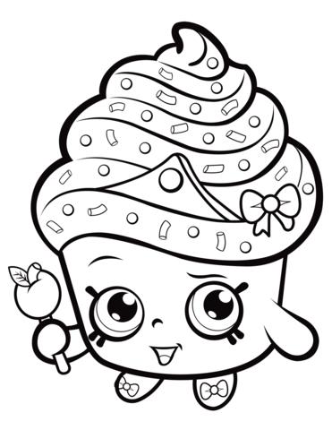 Cupcake Queen Shopkin Målarbok | Delines fylla i ...
