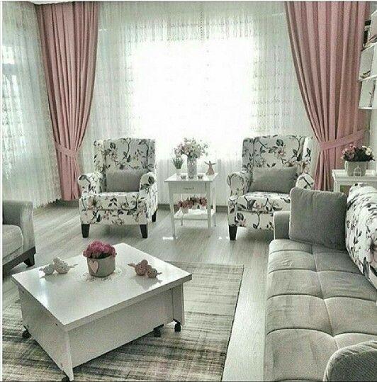 22 plus beaux mod les du salon moderne pour 2017 d coration en 2019 salon moderne salon et - Beaux rideaux salon ...