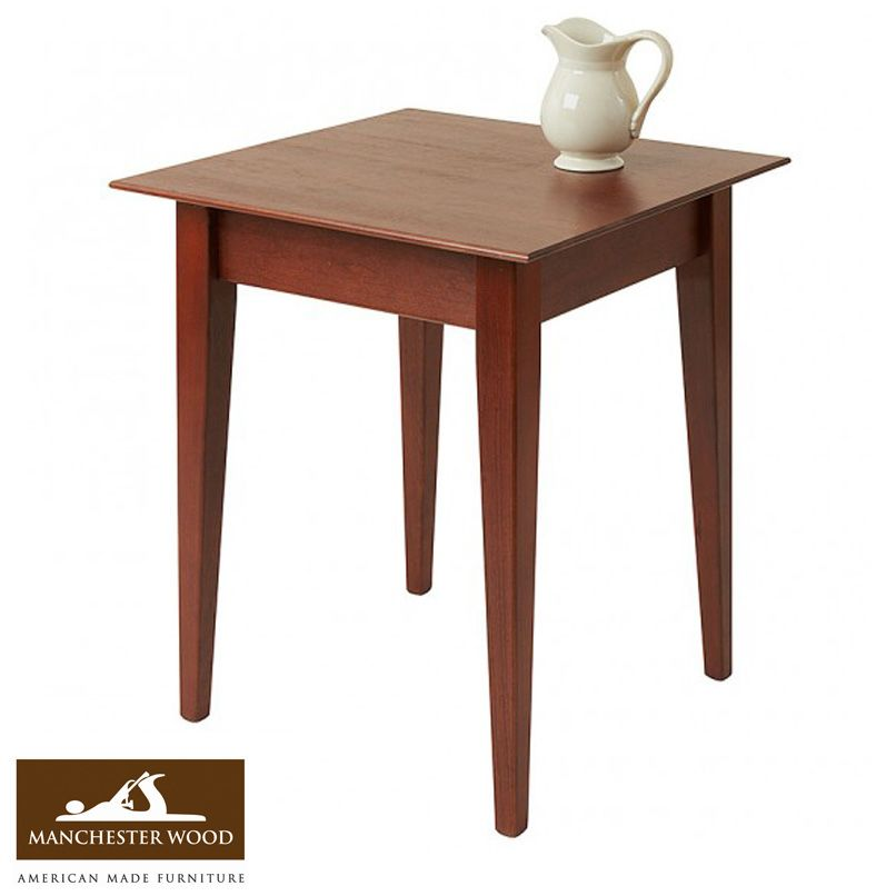 Best Our 22 Square Cherry End Table Adds To Any Room Setting 400 x 300
