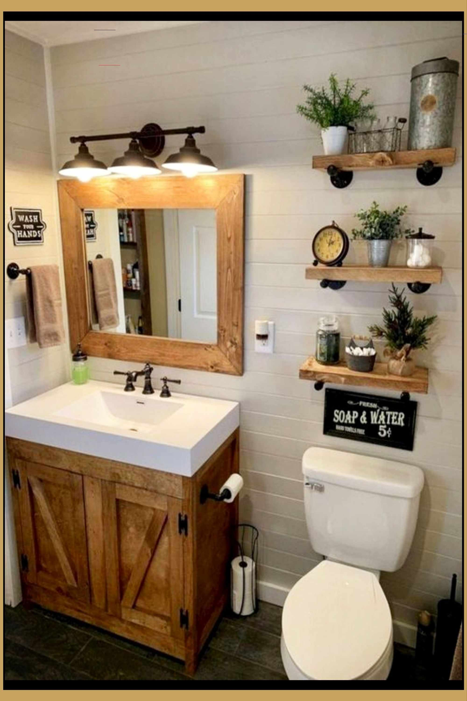 Country Outhouse Bathroom Decorating Ideas Outhouse Bathroom Decor Rusticfarmhouse Rustic Country In 2020 Badkamer Verbouwen Boerderij Badkamer Badkamerideeen