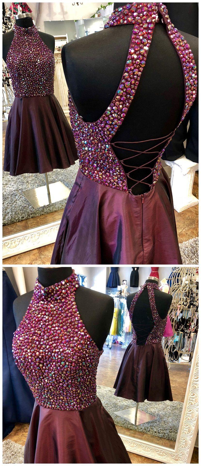 Burgundy homecoming dress maroon homeocming dresses rhinestone