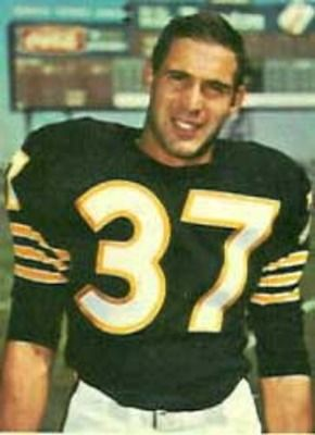 8d09af506 1960 oakland raiders | FB Alan Miller in the original Raiders jersey -  black and gold; it was .