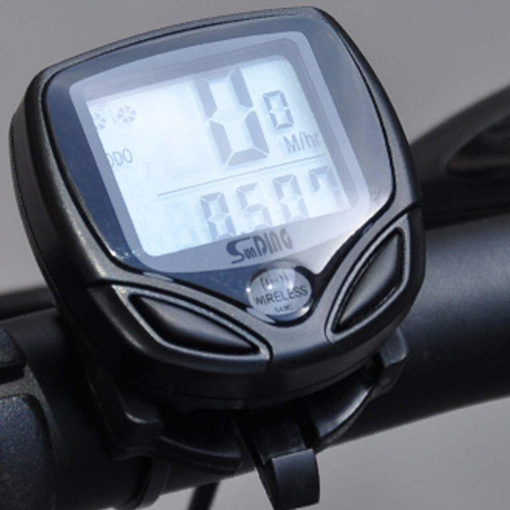 Nuovo 1 pz Bicicletta Meter Tachimetro digitale Wireless LCD Cycle Computer Contachilometri Bicicletta Per La Bici di Trasporto di Goccia