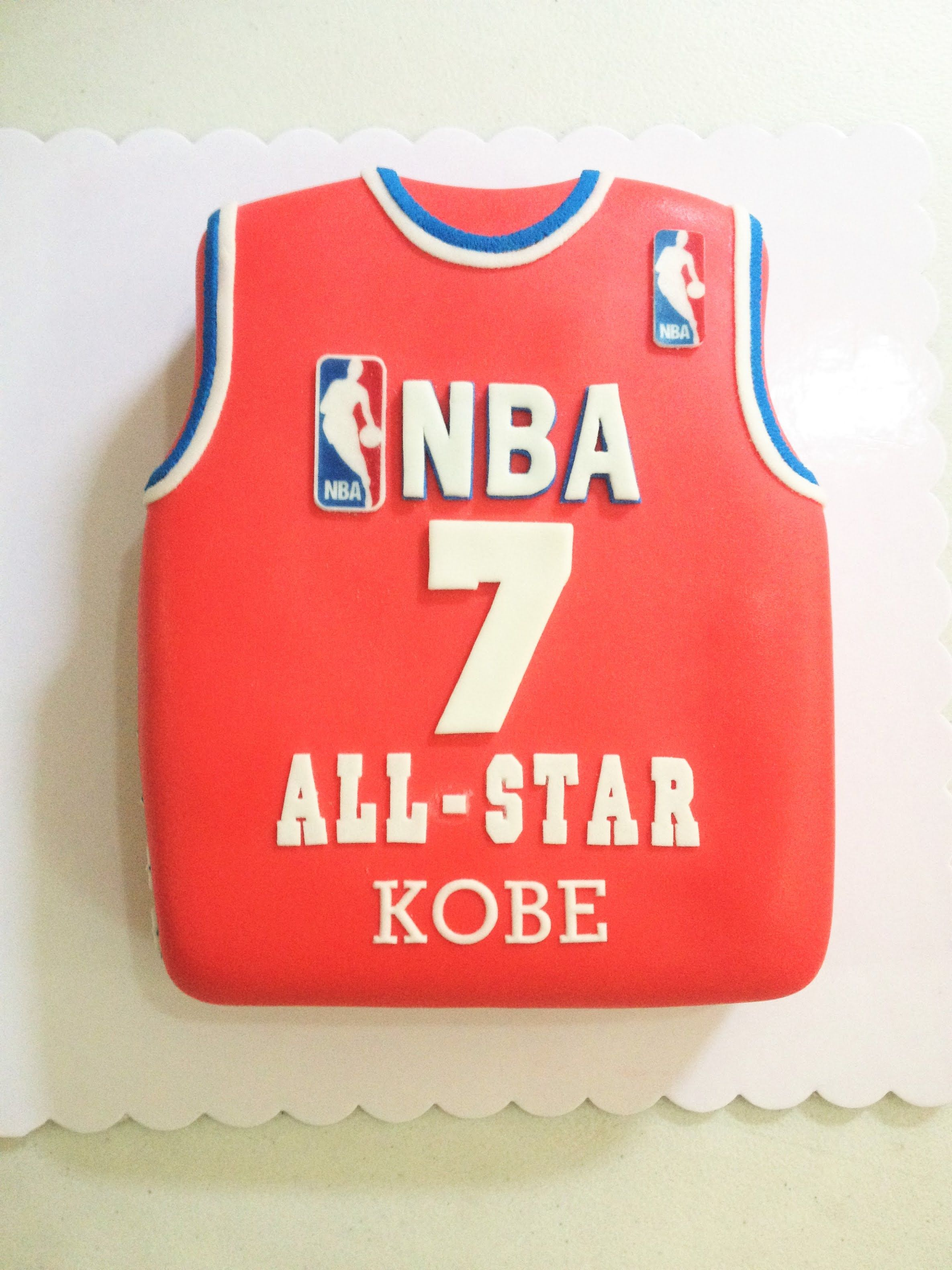 Kobes 7th month jersey cake by maus cupcake youtube