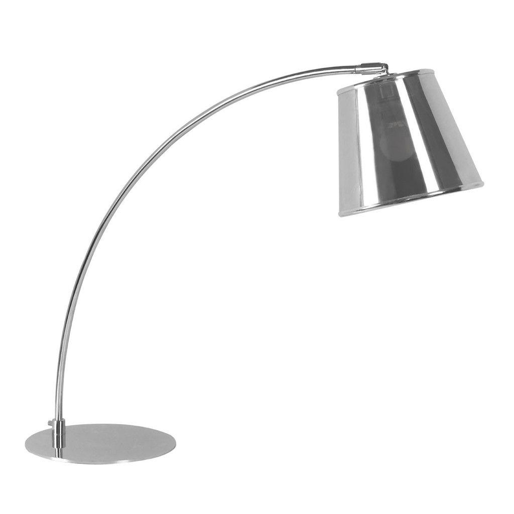 Table Lamp, Chrome, PVC Shade