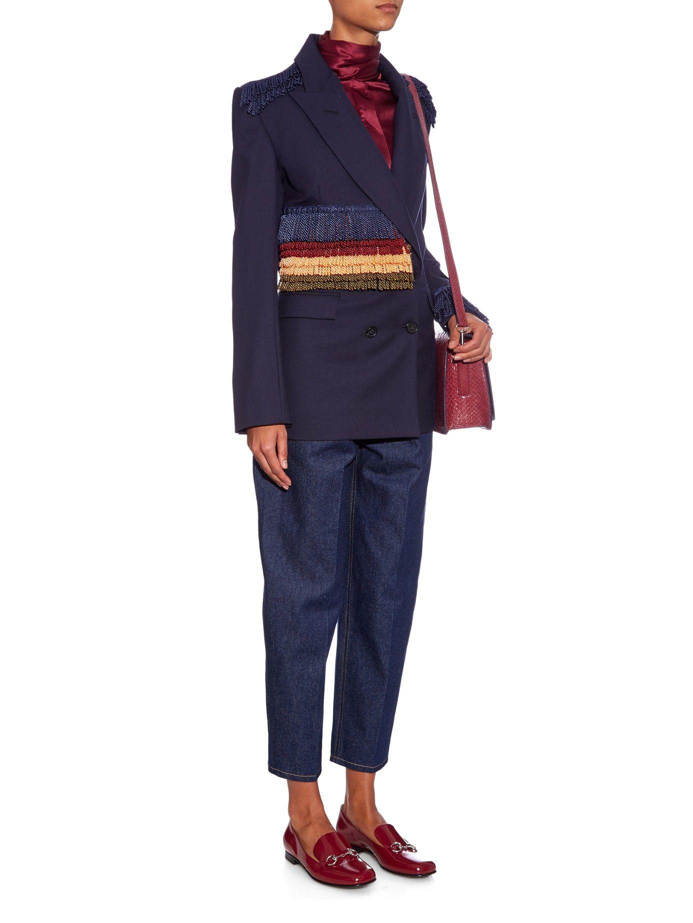 Worsted fringed wool jacket | Hillier Bartley | MATCHESFASHION.COM UK