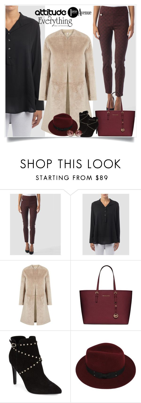 """""""Stylish"""" by sabinakopic ❤ liked on Polyvore featuring Joseph Ribkoff, Helmut Lang, MICHAEL Michael Kors, Topshop, Sans Souci, Oliver Peoples, country, women's clothing, women's fashion and women"""