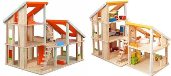 green dollhouses from PlanToys - Chalet Dollhouse