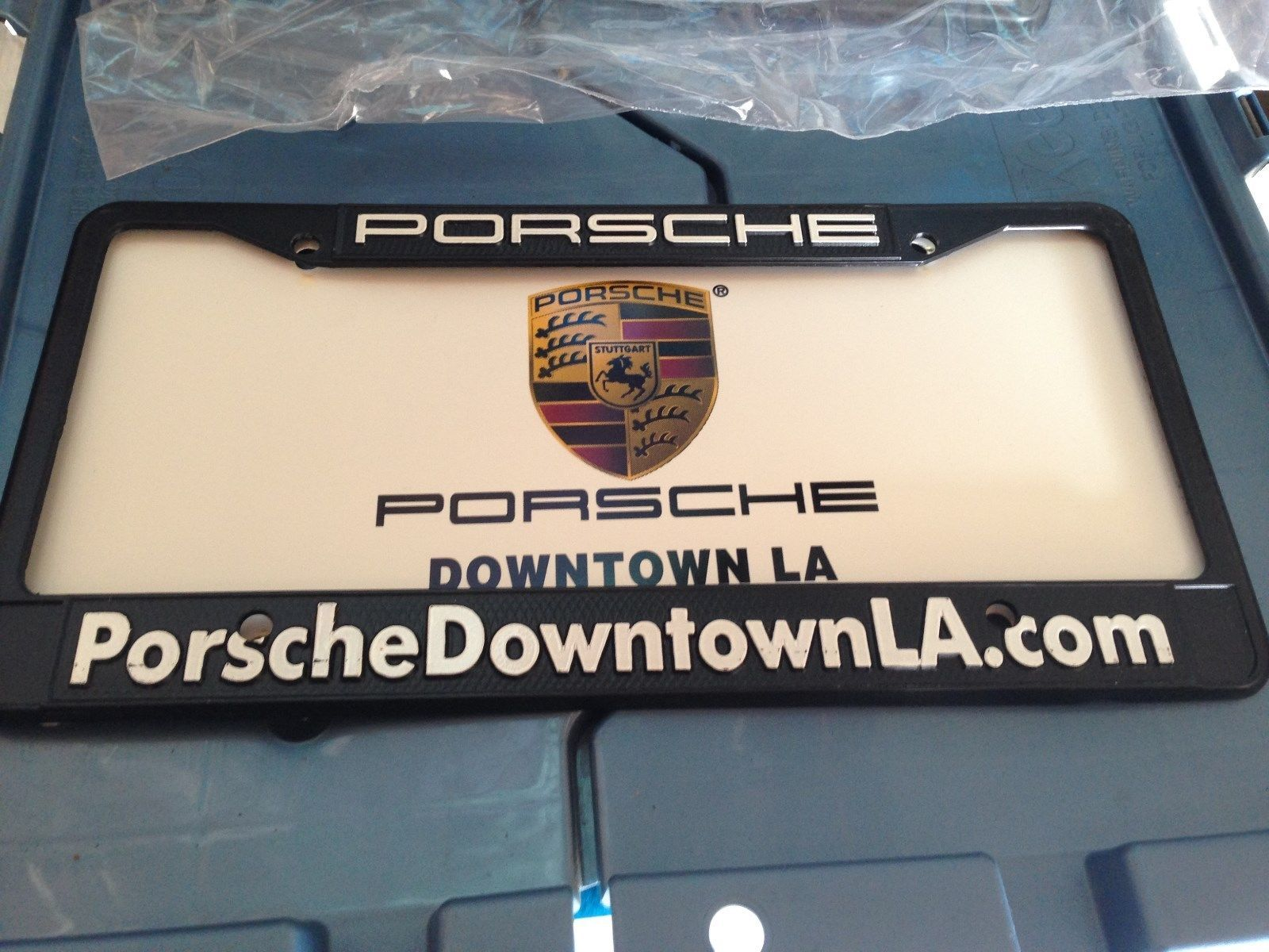Downtown Los Angeles La California Porsche Dealer License Plate ...