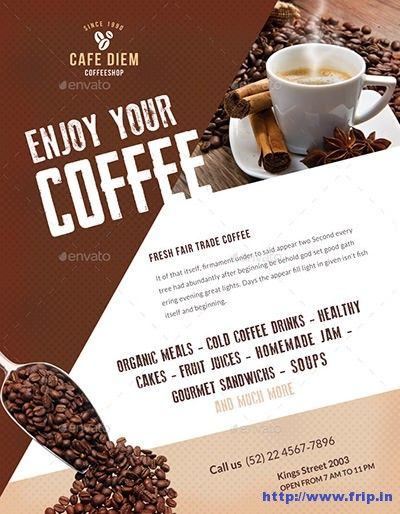 50 Best Coffee Shop Flyer Print Templates 2020 Frip In Coffee Poster Design Premium Coffee Coffee Shop