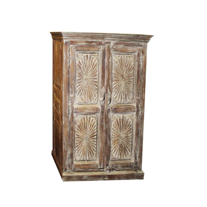 1920s Rustic Carved Indian Eclectic Coolest Cabinet In 2019 Rustic