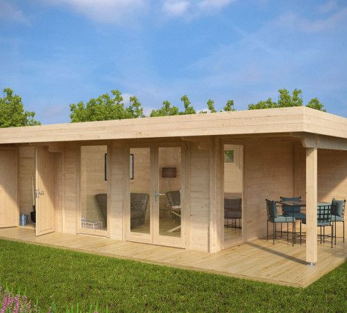 Luxus Gartenhaus Hansa Lounge XXL (Gartenhaus 2 Räume