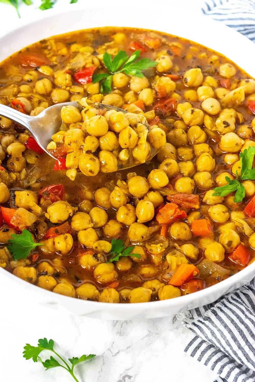 Chickpea Stew (Vegan, Gluten-Free) —used chickpea juice ...