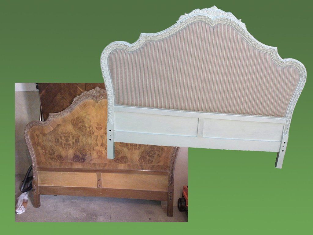 El incre ble antes y despu s de un cabecero antiguo furn for Muebles antiguos reciclados