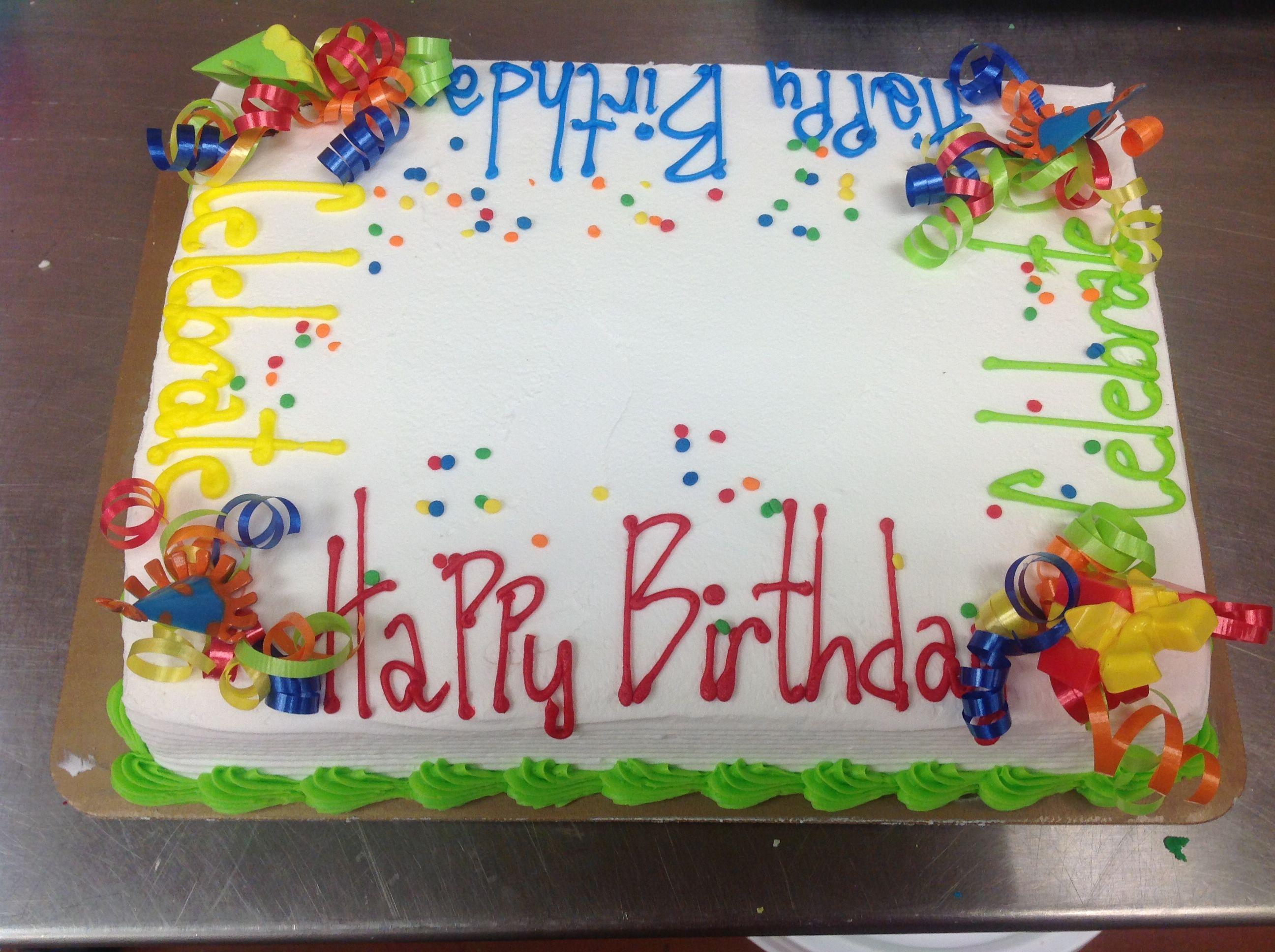 Birthday Cake Designs For Sheet Cake : One of my favorite sheet cake ideas. baking recipes ...