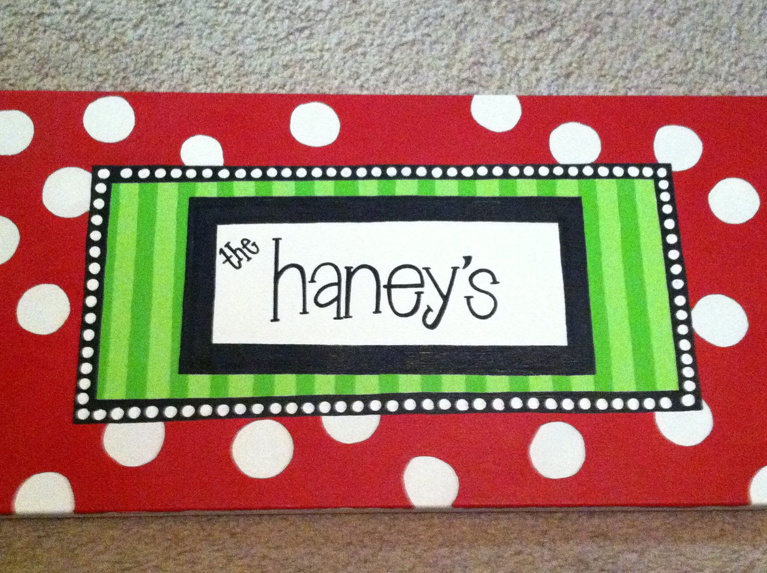 Custom Holiday Canvas. $25.00