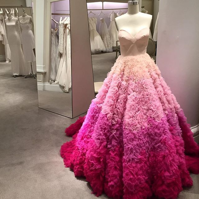It\'s the first day of the @csiriano trunk show at #Kleinfeld! More ...