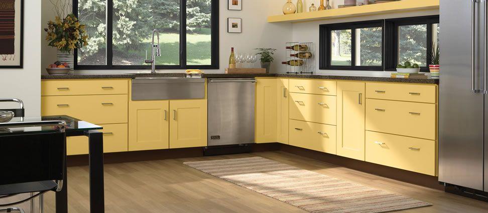 love this color ... Maple Copenhagen with Custom Paint Kitchen ...